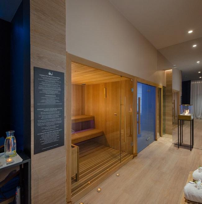 Sauna dans l'espace bien-être