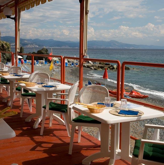 Bar de plage du Grand Hôtel Arenzano
