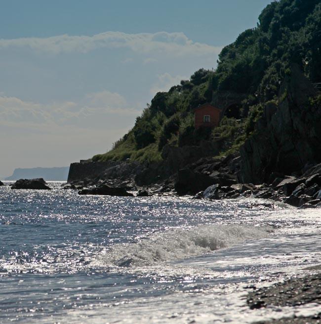 Mer vue de la plage du Grand Hotel Arenzano