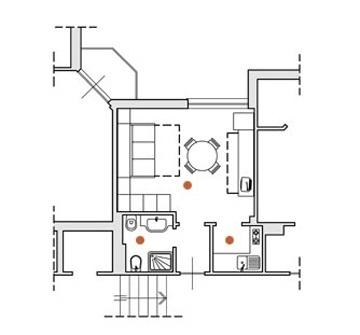 Monolocale ristrutturato con aria condizionata in residence in Liguria