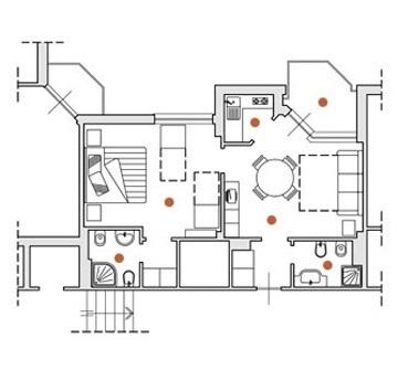Appartement de deux pièces pour vacances à Ceriale en Ligurie