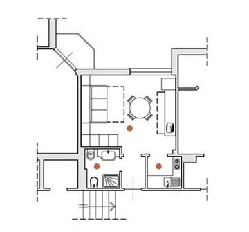 Einzimmerwohnung mit Klimaanlage im  Residenz in Ligurien