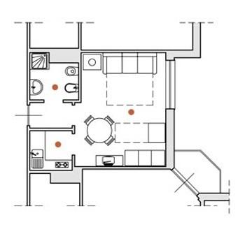 Einzimmerwohnung Ceriale Ligurien