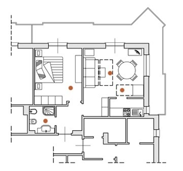 Appartamento bilocale in residence con piscina per vacanze in famiglia in Liguria