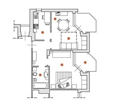 Appartement de deux pièces sur la côte Ligure avec piscine