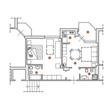 Deux pièces avec air conditionné dans une résidence à Ceriale en Ligurie