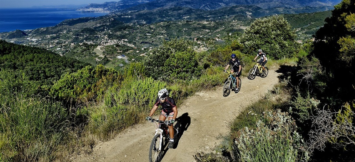 Liguria in mountain bike